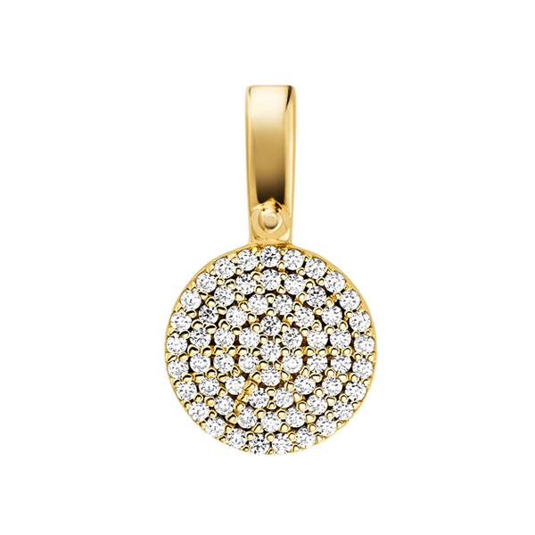 Michael Kors Custom Kors Gold Plated Silver Cubic Zirconia Charm