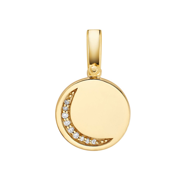 Michael Kors Custom Kors Gold Plated Silver Moon Charm