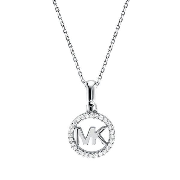 Michael Kors Custom Kors Silver Cubic Zirconia Logo Pendant