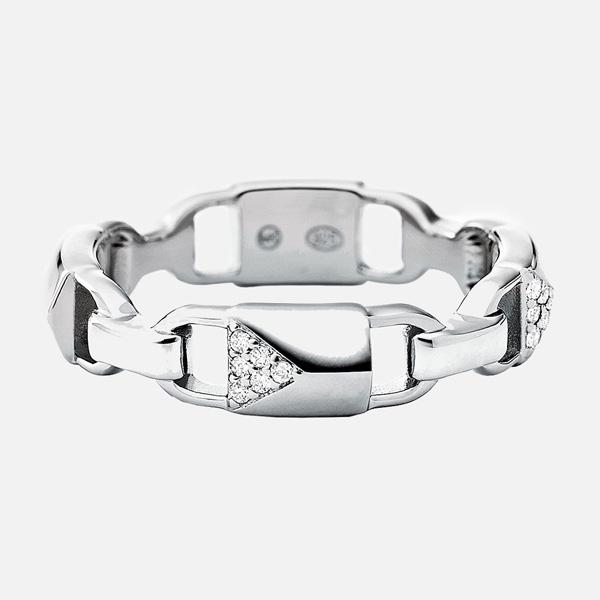 Michael Kors Mercer Link Silver Cubic Zirconia Ring