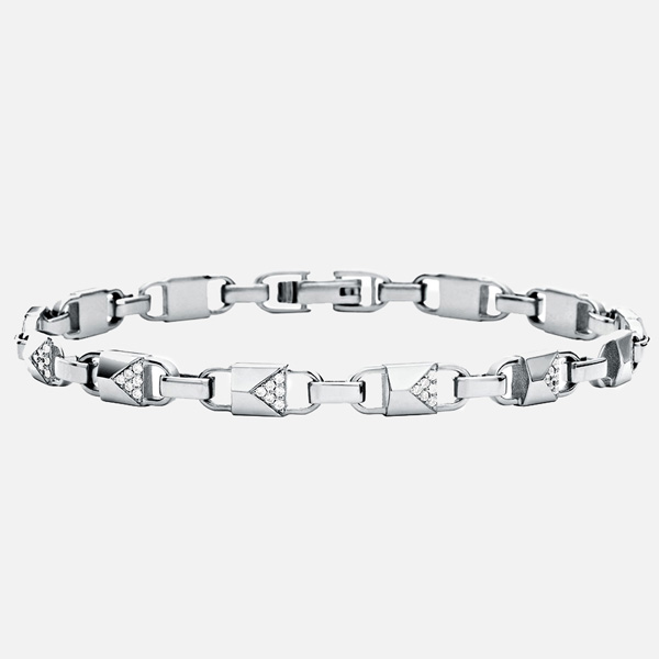 Michael Kors Mercer Link Silver Cubic Zirconia Bracelet