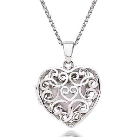 Silver Heart Locket Pendant