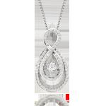Dance by Beaverbrooks 9ct White Gold Diamond Pendant