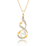 9ct Gold Glitter Twist Pendant