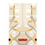 9ct Gold Glitter Twist Freshwater Cultured Pearl Earrings
