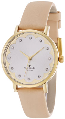 Kate Spade Metro Scalloped Gold Tone Crystal Ladies Watch