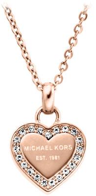 Michael Kors Rose Gold Tone Cubic Zirconia Heart Pendant