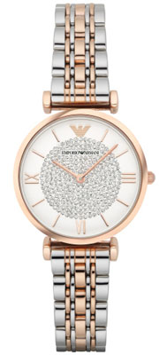 Emporio Armani Two-Colour Crystal Ladies Watch