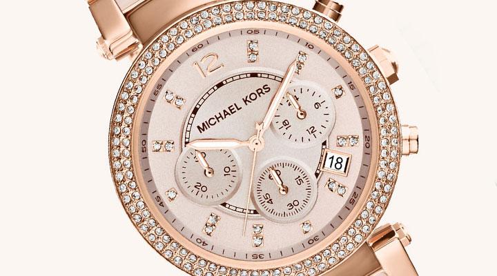 Michael Kors Parker Rose Glitz Chronograph Ladies Watch