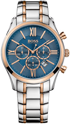 Hugo Boss Ambassador Steel and Rose Gold Tone Chronograph Men's Watch