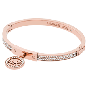 Michael Kors Rose Gold Tone Charm Bangle