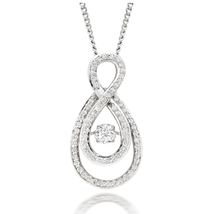 Dance by Beaverbrooks 9ct White Gold Diamond Pendant