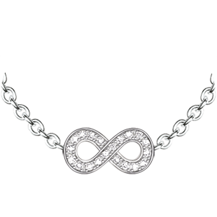 Thomas Sabo Glam and Soul Silver Diamond Infinity Necklace