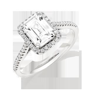 Silver Cubic Zirconia Halo Ring