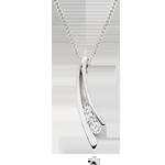 Silver Cubic Zirconia Drop Pendant