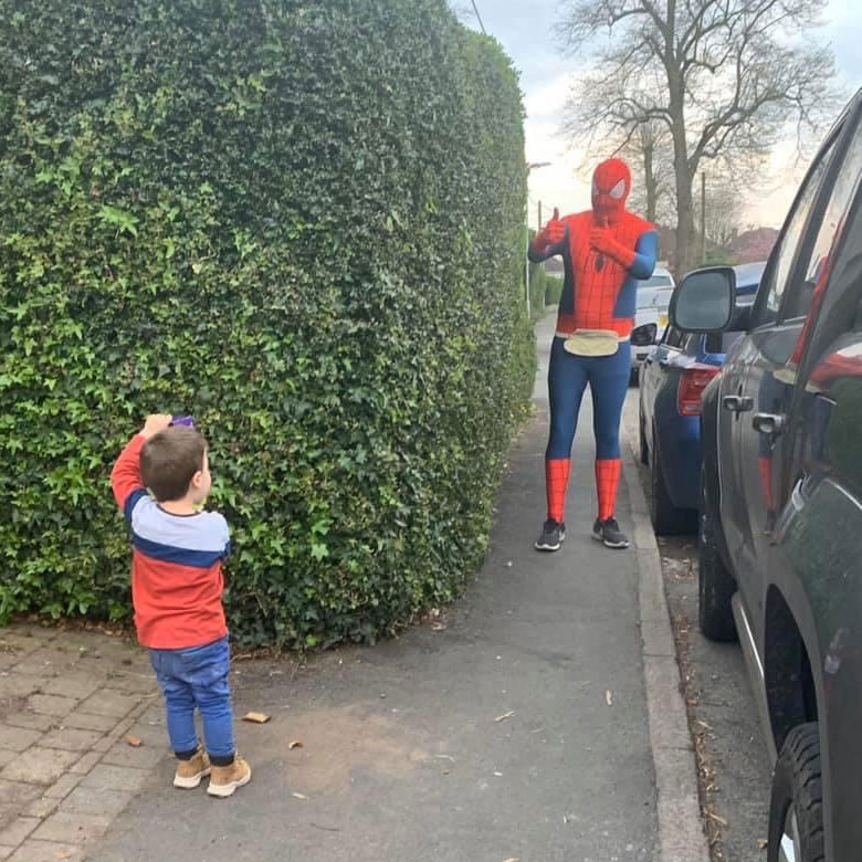 Spiderman Delivering Easter Eggs