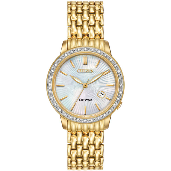 Citizen Silhouette Gold Tone Diamond Ladies Watch