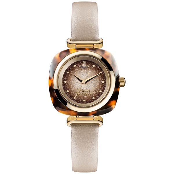 Vivienne Westwood Gold Tone Tortoiseshell Ladies Watch