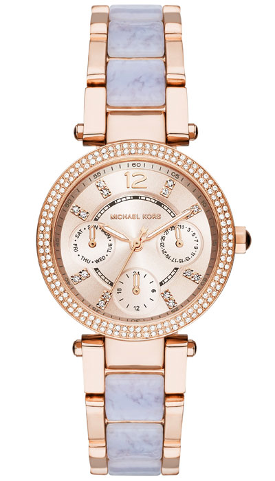 Michael Kors Mini Parker Rose Gold Tone Chronograph Ladies Watch