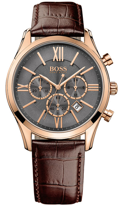 Hugo Boss Ambassador Rose Gold Tone Chronograph Men's Watch