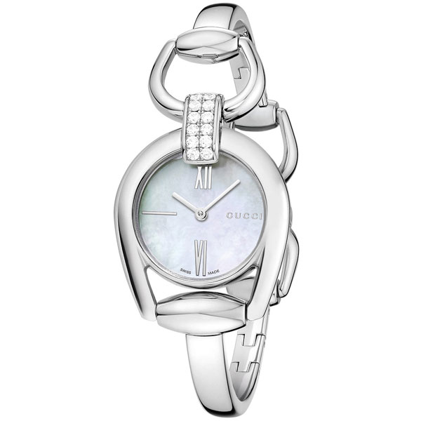 Gucci Horsebit Diamond Ladies Watch