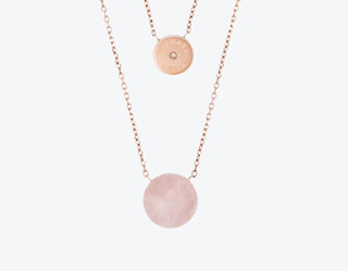 Michael Kors Summer Rush Rose Gold Tone Necklace