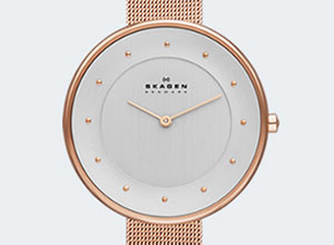 Skagen Gitte Rose Gold Tone Ladies Watch