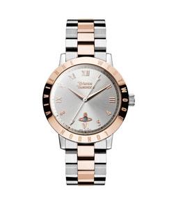 Vivienne Westwood Bloomsbury Rose Gold Tone and Stainless Steel Ladies Watch