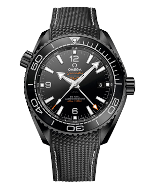Omega Seamaster Planet Ocean 600m Deep Black Chronometer GMT Men's Watch
