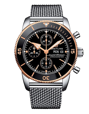 Breitling Superocean Heritage II Stainless Steel and Rose Gold Automatic Chronograph Men's Watch