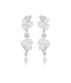 Swarovski Diapason White Metal Crystal Drop Earrings