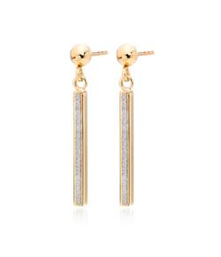9ct Gold Glitter Drop Earrings