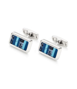 Sodalite Lapis Turquoise Men's Cufflinks
