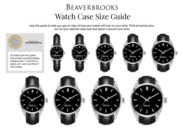 Beaverbrooks Case Size Guide
