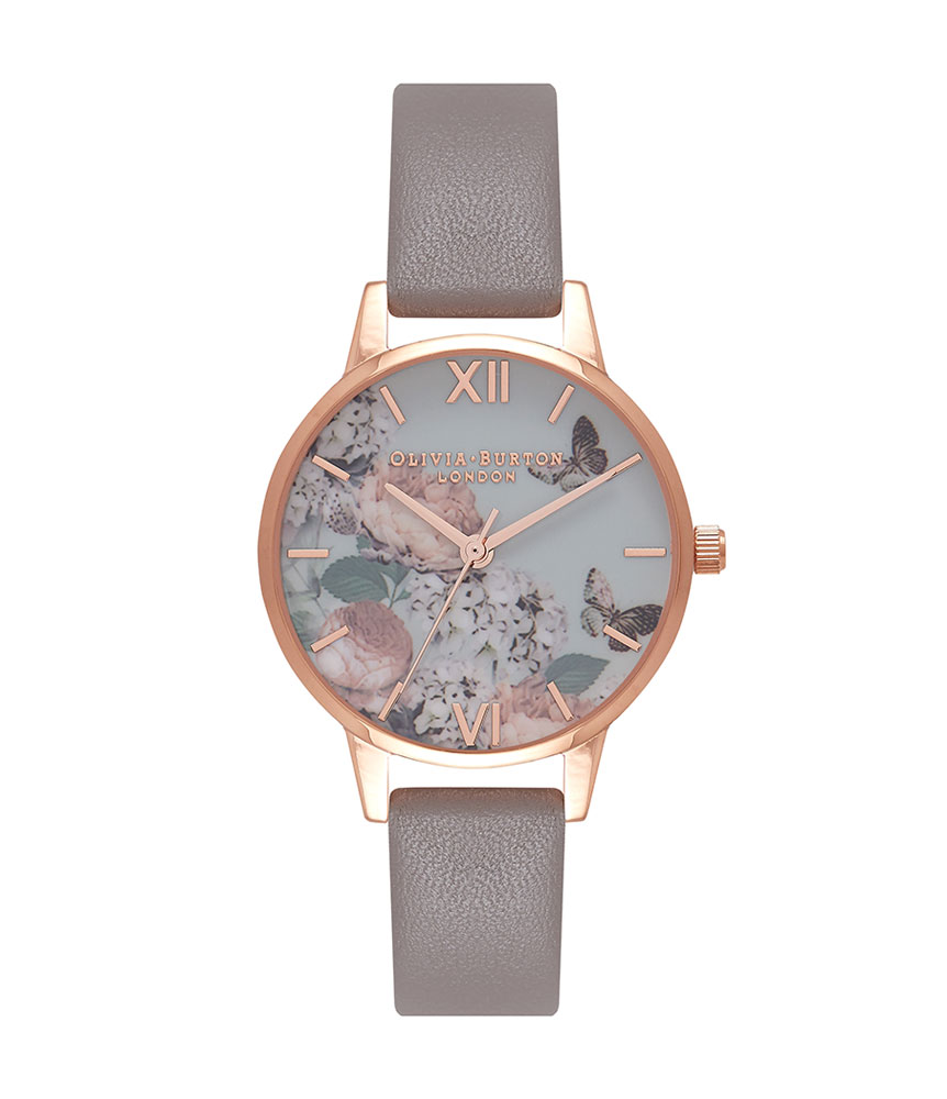 Olivia Burton Signature Floral Rose Gold Plated Ladies Watch