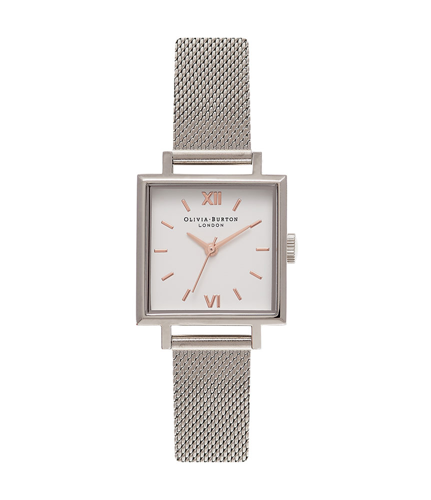 Olivia Burton Midi Square Mesh Ladies Watch