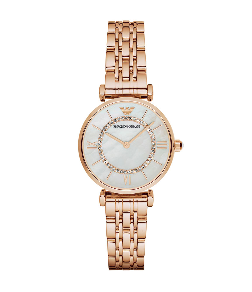 Emporio Armani Rose Gold Tone Ladies Watch