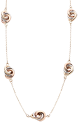 9ct Tri-Tone Gold Oval Necklace