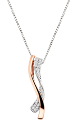 Beaverbrooks Era Entwine 9ct Two Colour Diamond Pendant