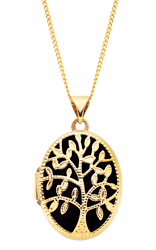 9ct Gold Tree of Life Locket Pendant