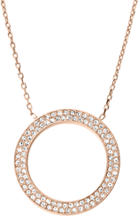 Michael Kors Rose Gold Crystal Circle Pendant