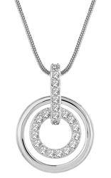 Swarovski White Metal Crystal Circle Pendant