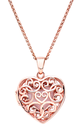 Rose Gold Plated Heart Locket Pendant
