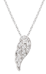 Silver Cubic Zirconia Angel Wing Pendant