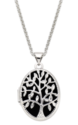 Silver Tree of Life Locket Pendant