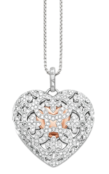 Thomas Sabo Glam and Soul Bi-Metal Cubic Zirconia Heart Locket