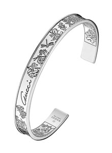 Gucci Silver Flora Bangle