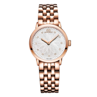 88 Rue Du Rhone Double 8 Origin Rose Gold Plated Diamond Ladies Watch