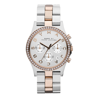 Marc By Marc Jacobs Henry Bi-Metal Chronograph Ladies Watch