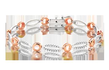 Bi-Metal Cubic Zirconia Bracelet